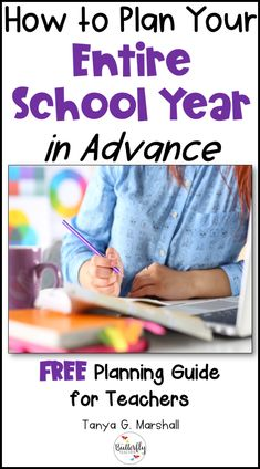 5 Easy Steps to Plan Your Entire School Year In Advance Getting ready for each school year doesn't have to absorb all your time! Learn the steps to setting goals for your entire school year with this post + FREE Planning Guide for teachers. Teacher Binder, Teacher Organization, Teacher Tools, Teacher Resources, Teacher Stuff, New Teachers, Elementary Teacher, School Teacher, Elementary Schools
