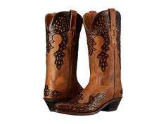 Old West Boots LF1539 Burnwood/Brown - Zappos.com Free Shipping BOTH Ways