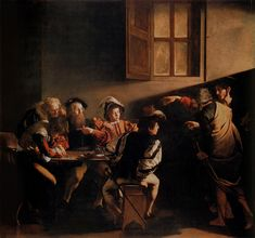 "Michelangelo Merisi da Caravaggio (1572-1610) ""The Calling of Saint Matthew"""