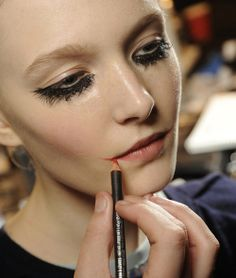 Backstage at Louise Gray, M∙A∙C AW13 London Fashion Week
