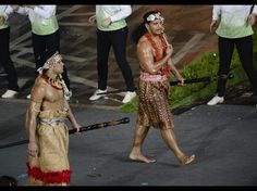 July 27, 2012; London, United Kingdom; Athletes of American Somoa in the athletes parade during the opening ceremony for the 2012 London Olympic Games at Olympic Stadium. Mandatory Credit: Robert Deutsch-USA Today Sports.  Credit: