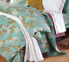 Wisteria Branch Cotton Sateen Duvet Cover