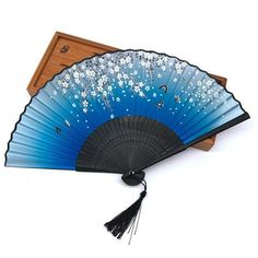 Halloween Bamboo Silk Pocket Folding Fan