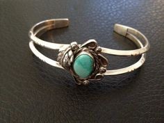 Turquoise and Sterling Silver Bracelet by ThunderboltSilver