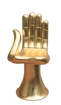 Pedro Friedeberg gilt sculptural chair