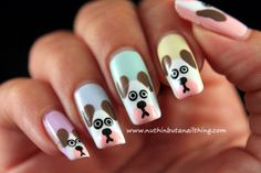 nuthin' but a nail thing: Dog  #nail #nails #nailart