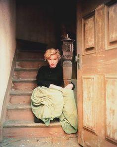 """Marilyn Monroe by Milton Greene- """"The Dutch Girl Sitting""""-1954"""