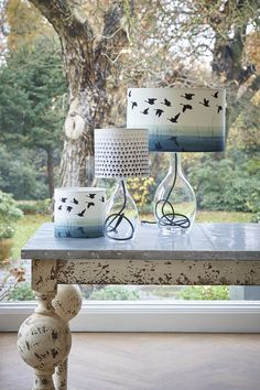 Anna Jacobs Welsh Reflection and Seeing in B&W lampshades Mason Jar Chandelier, Diy Chandelier, Mason Jar Lighting, Interior Design Inspiration, Decor Interior Design, Interior Decorating, Decorating Ideas, Anna Jacobs, Painted Furniture