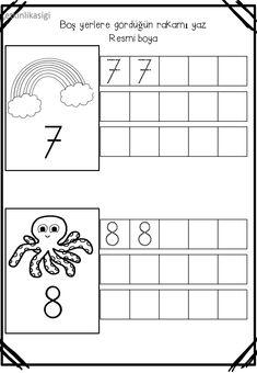 Numbers Preschool, Preschool Printables, Kindergarten Worksheets, Writing Activities, Preschool Activities, Tracing Sheets, Abc Crafts, Number Worksheets, Writing Numbers