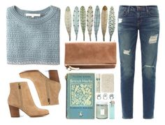 """""""Icicle"""" by malinamf ❤ liked on Polyvore featuring O'2nd, Frame Denim, MICHAEL Michael Kors, Fresh, Alöe and Clare V."""