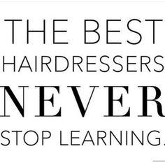 Afbeeldingsresultaat voor hairdressers keep learning