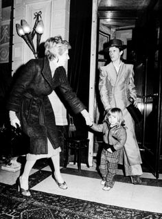 Rock star David Bowie, his wife Angie and their son Zowie.