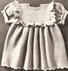 Vintage Knitting PATTERN Baby Toddler Dress
