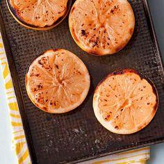 #GlutenFree Menu, DESSERT   Buttery Grapefruit Brulee #RRMenuPlanner