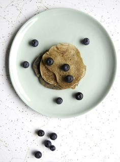 Vegan Banana Pecan Pancakes