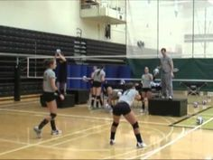A wonderful sequence of passing drills conducted by John Shondell, asst. coach at Purdue University. Volleyball Passing Drills, Volleyball Warm Ups, Volleyball Gifs, Volleyball Skills, Volleyball Training, Volleyball Workouts, Coaching Volleyball, Volleyball Pictures, Women Volleyball