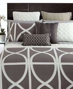 Hotel Collection Bedding, Transom Charcoal Collection - Bedding Collections - Bed & Bath - Macy's