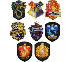 Hogwarts School Harry Potter Crest Iron Sew On Patch Embroidered Motif Badge