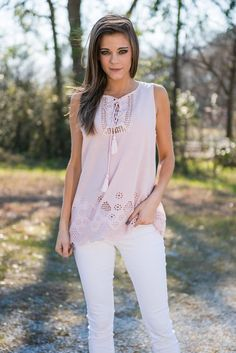 """""""Take A Walk With Me Tank, Rose Quartz"""" 