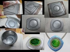 Wendy Orlowski is at it again ... New All-in-One versions of her CaBezel molds--customizable bezels on these. Too cool!