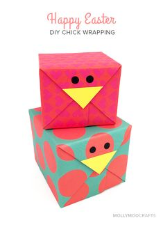 DIY Easter Gift Wrap - Easter Chick