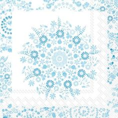 Lilly light blue Cocktail Napkins 240 ct
