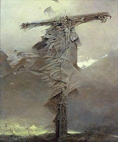 Image result for beksinski crucifix