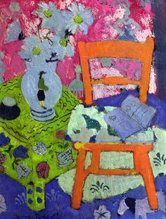 bofransson:  Still Life, the Orange Chair, Anne Redpath