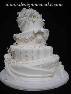 Beautiful... white cake, wedding. elegant