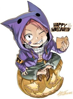 The Fairy's Tales — Halloween Natsu by Mashima-sensei (for Magazine...