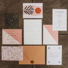 Modern designer wedding invites