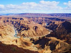 Fish River Canyon, Namibia. One of the highlights of our Namibia & the Pride of Africa rail tour http://www.greatrail.com/great-train-tours-holiday-destinations/africa/fish-river-canyon.aspx