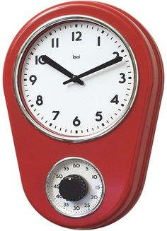 KITCHEN TIMER WALL CLOCK  $39.50 @ puremodern.com (in multiple colors!)