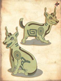 Mascota para museo infantil, Xolot / Vector.