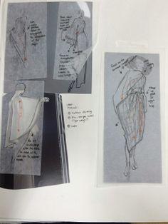 Fashion Sketchbook - dress sketches & drape development; creative process; fashion portfolio // Karen Yao
