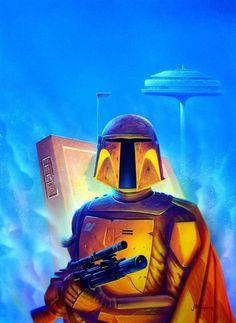 Boba Fett by John Higgins Jango Fett, Star Wars Boba Fett, Star Wars Rebels, Star Wars Film, Star Wars Art, Star Trek, Episode Iv, Star Wars Collection, Bounty Hunter
