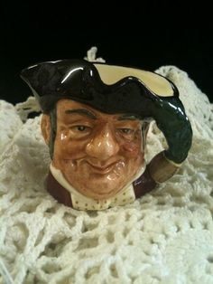 "Vintage Royal Doulton Mini Character Toby Jug ""Mine Host"". $40.00, via Etsy."