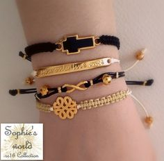 Facebook, Bracelets, Gold, Handmade, Jewelry, Fashion, Jewels, Moda, Hand Made
