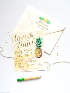 This destination save-the-date wedding invite will be sure to set the mood for your tropical destination wedding.