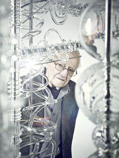 Czech artist René Roubíček, one of the fathers of modern art glass (b.1922) Creates Crystal Masterpiece for EXPO MILAN 2015.