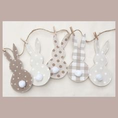 Laura Ashley Neutrals Easter Bunny Bunting ,nursery ,Party,Easter,home | eBay