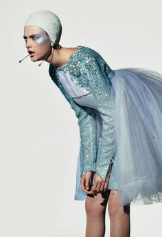 Sporting Couture, Vlada Roslykova by Richard Burbridge for Dazed & Confused April 12