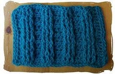 Crochet cabling (uses FPDC and BPDC stitches on alternating sides - great for scarves)