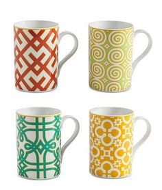 Colorful mugs make for a bright start to your day