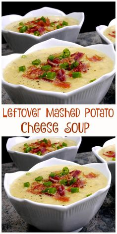 Use up those leftover mashed potatoes with this delicious soup.
