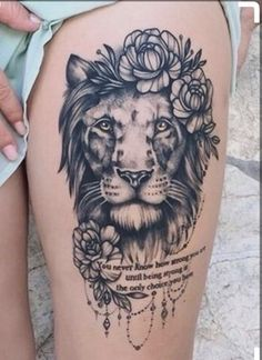 50 eye-catching lion tattoos that make you sound tattoo ideas # on diy tattoo images Tattoo Bein, Leo Tattoos, Bild Tattoos, Animal Tattoos, Body Art Tattoos, Tatoos, Trendy Tattoos, Popular Tattoos, Cute Tattoos