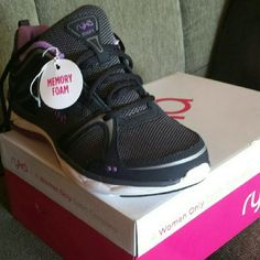 "Size 10W rykä Women's walking shoes - Memory foam Never worn! Women's 10W Ryk? brand ""Shift"" walkers in black, lilac and gray, with memory foam insoles. Brand new in box. Original price includes the tax and shipping charges I paid. ryka Shoes Athletic Shoes"