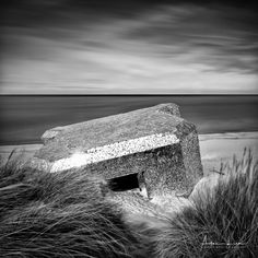 Mirror Bunker in BW I - The mirror bunker at Dunkirk, France. Some long exposure shots. #BW #Dunkirk #France #beach #blackandwhite #blackandwhitephotography #bunker #clouds #coast #coastline #covered #landscape #landscapephotography #long #exposure #longexposure #longexposurephotography #mirror #mirrors #nature #naturephotography #ocean #pieces #reflection #sand #scenic #sea #seascape #seascapephotography #shiny #sky #smooth #water #waves
