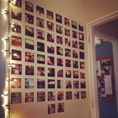 My instagram photo wall. AND twinkle lights :)
