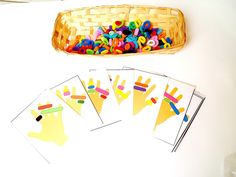 Hand-a-pattern activity with colored terry loops cards download PDF only